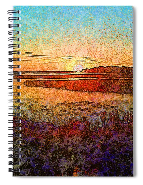 Georgian Bay Sunset Spiral Notebook