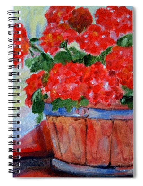 Geraniums Spiral Notebook