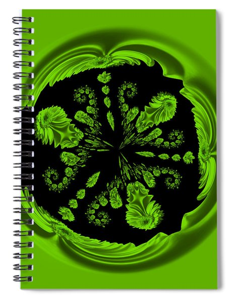 Gerbia Daisy Digitized Orb Spiral Notebook