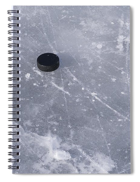 Get The Puck Outta Here Spiral Notebook