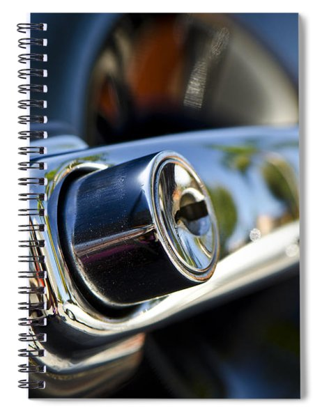 Getting Into Trouble - Classic Porsche Door Handle By Sharon Cummings Spiral Notebook