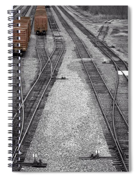 Getting On The Right Track Spiral Notebook