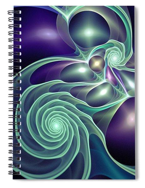 Ghost Lights Spiral Notebook