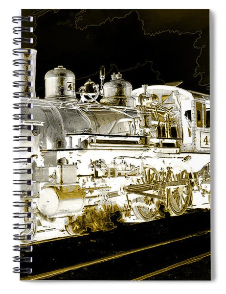 Ghost Train Spiral Notebook