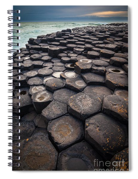 Giant's Causeway Pillars Spiral Notebook