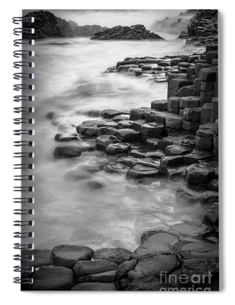 Giant's Causeway Waves  Spiral Notebook
