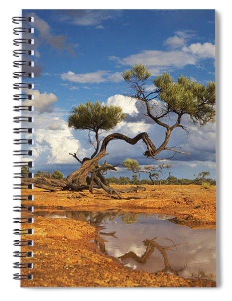 Gidgee Trees And Waterhole Queensland Spiral Notebook