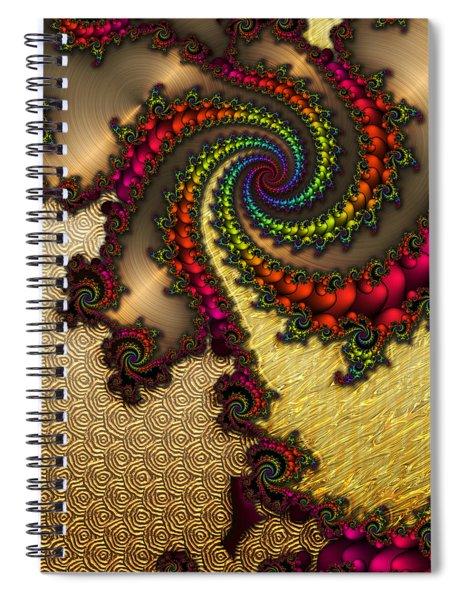 Gilded Fractal 10  Spiral Notebook