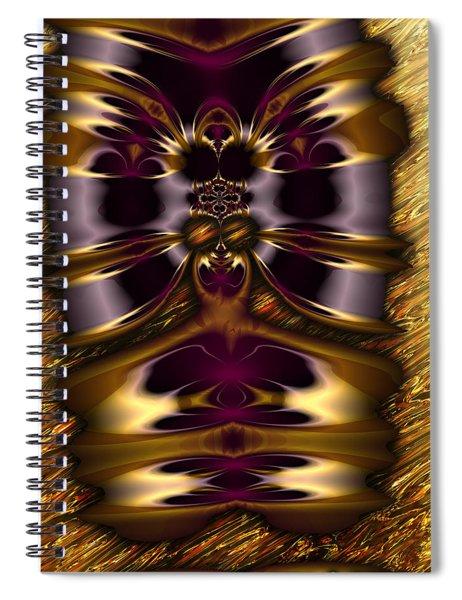 Gilded Fractal 11  Spiral Notebook