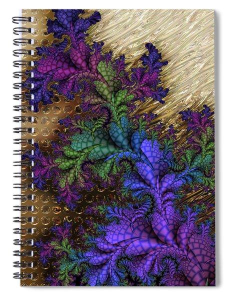 Gilded Fractal 12  Spiral Notebook
