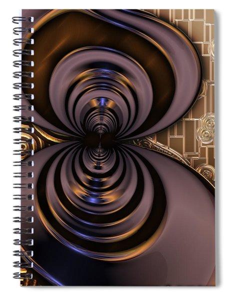 Gilded Fractal 2 Spiral Notebook