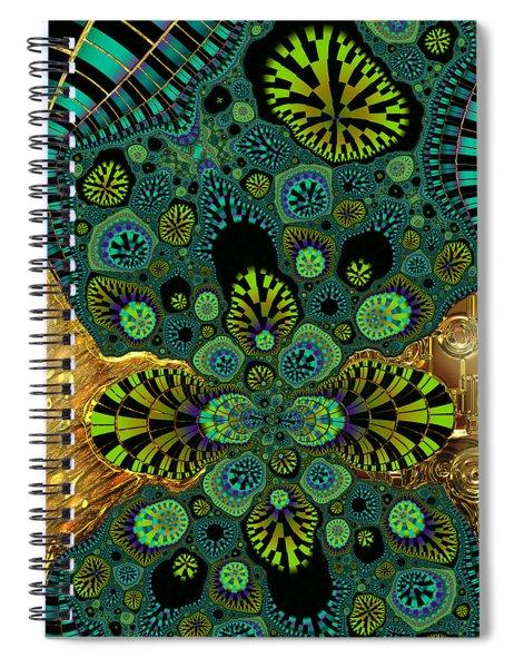 Gilded Fractal 5  Spiral Notebook