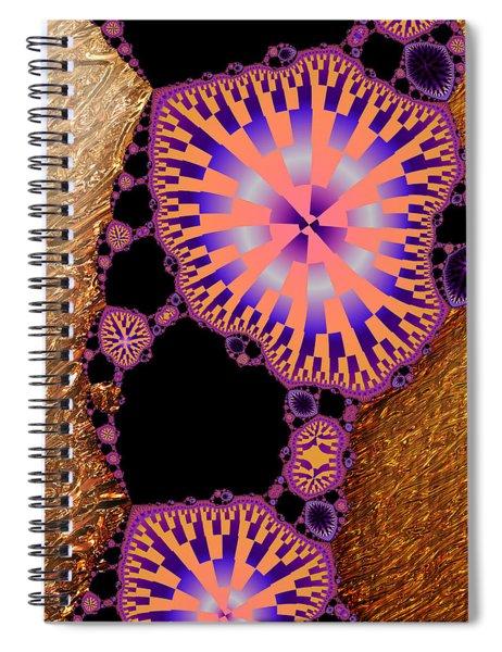 Gilded Fractal 6  Spiral Notebook