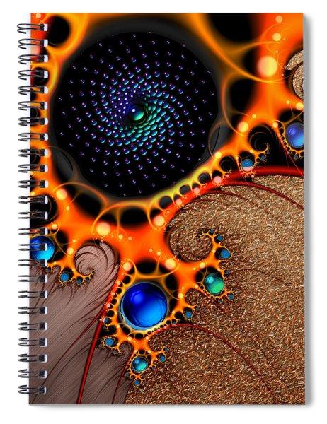 Gilded Fractal 7  Spiral Notebook