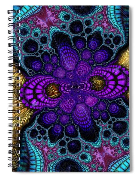 Gilded Fractal 8  Spiral Notebook