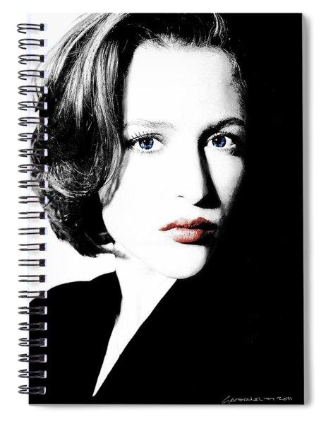 Gillian Anderson Spiral Notebook