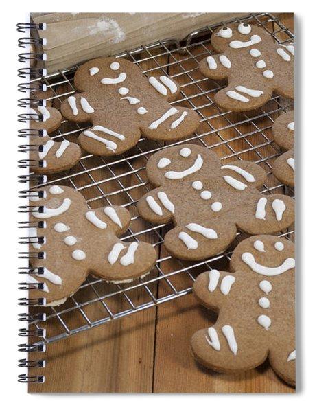 Gingerbread Man Cookies Spiral Notebook