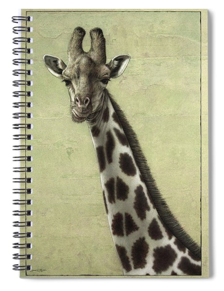 Spiral Notebook featuring the painting Giraffe by James W Johnson