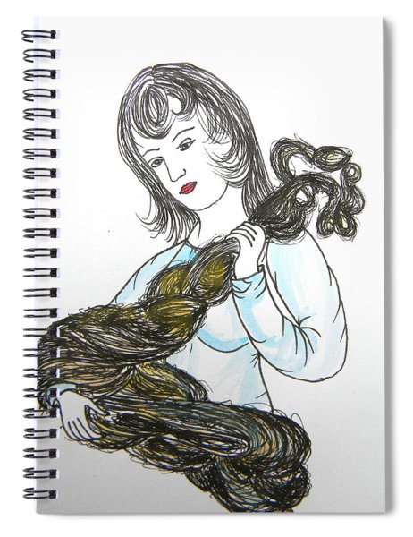 Girl And Tow Spiral Notebook