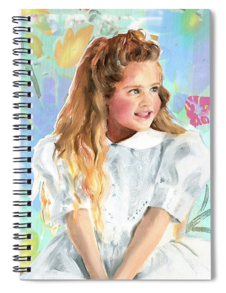 Girl In A White Lace Dress  Spiral Notebook