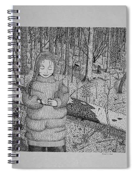 Girl In The Forest Spiral Notebook
