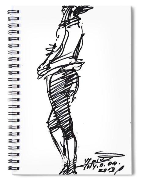 Girl Standing Spiral Notebook