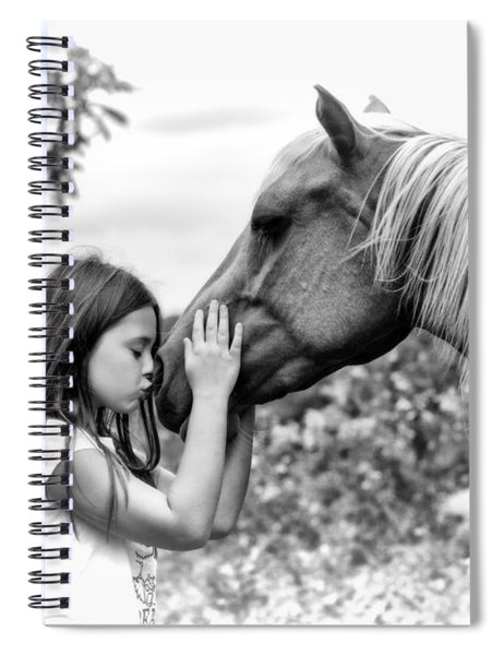 Girls And Their Horses Spiral Notebook