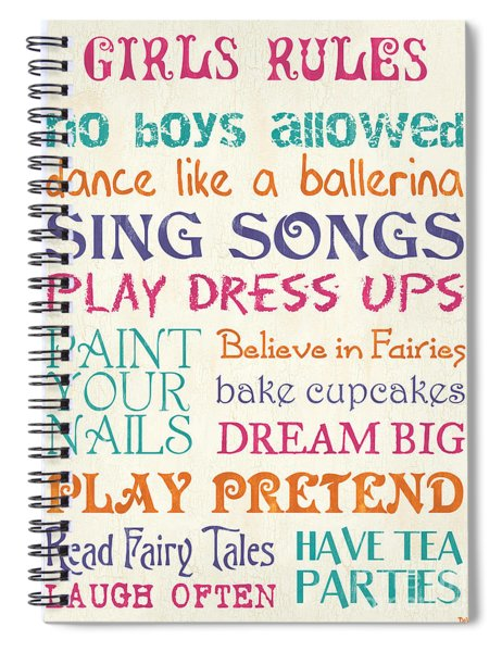 Girls Rules Spiral Notebook