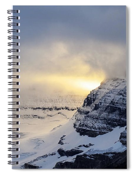Glacier Above Lake Louise Alberta Canada Spiral Notebook