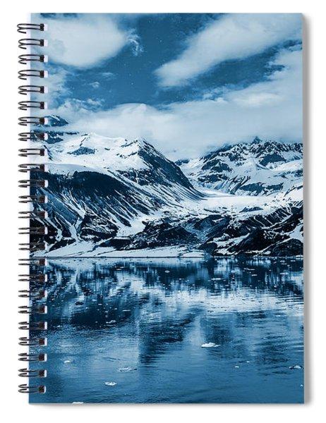 Glacier Bay - Alaska - Landscape - Blue  Spiral Notebook