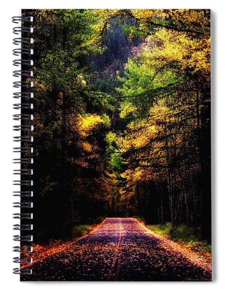 Glacier Fall Road Spiral Notebook
