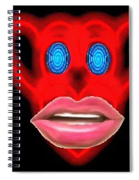 Glamour Monkey Blue Whirls Spiral Notebook
