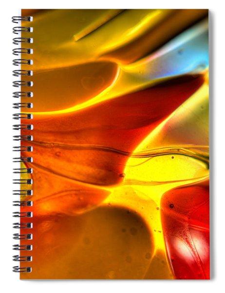 Glass And Light Spiral Notebook