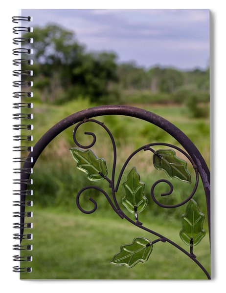 Glass Leaves Spiral Notebook