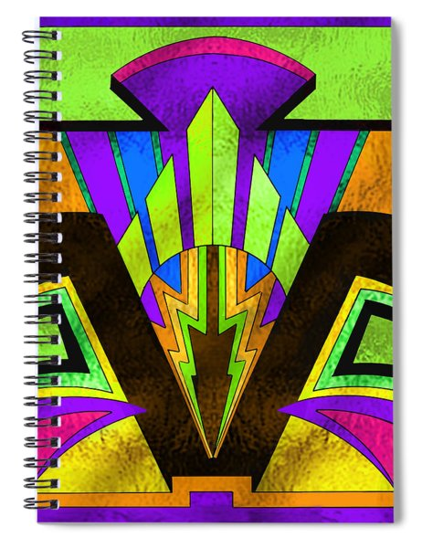 Glass Pattern 5 B Spiral Notebook