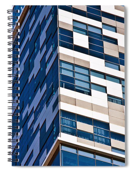 Glass Wall Of A Skyscraper  Spiral Notebook