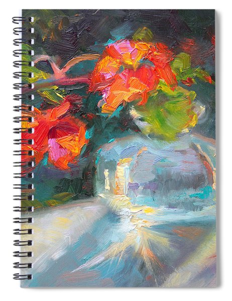 Gleaning Light Nasturtium Still Life Spiral Notebook
