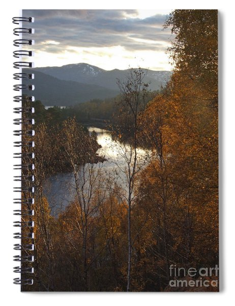 Silver And Gold - Glen Affric Spiral Notebook