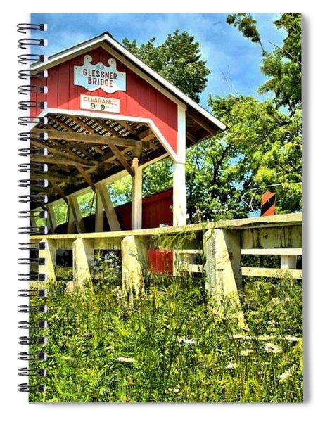 Glessner Wooden Bridge Spiral Notebook