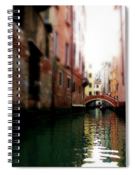 Gliding Along The Canal  Spiral Notebook