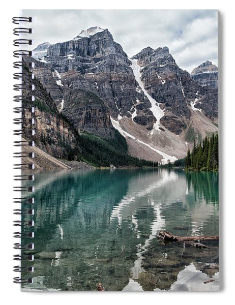 Gloomy Day On Moraine Lake Spiral Notebook