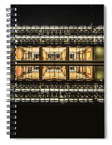 Glorious Modern Architecture At Night Spiral Notebook