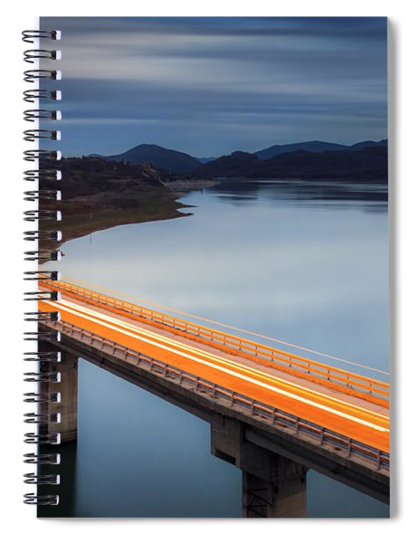 Glowing Bridge Spiral Notebook