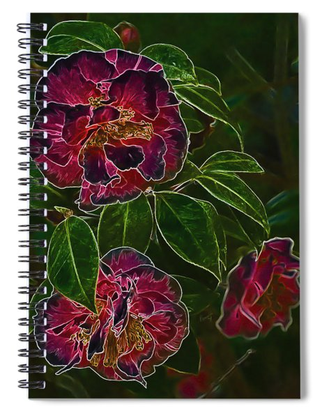Glowing Camellia Spiral Notebook