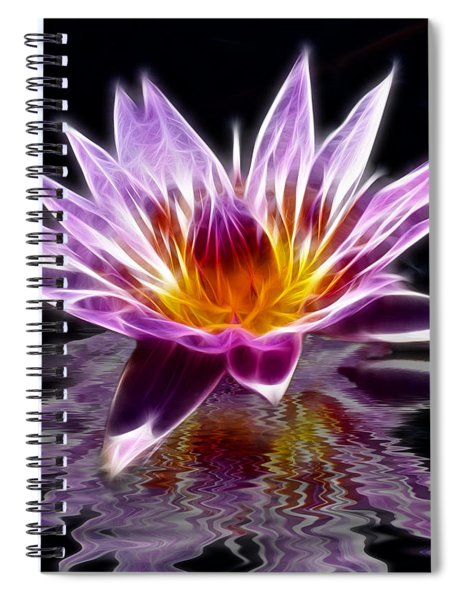 Glowing Lilly Flower Spiral Notebook