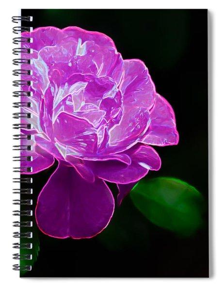 Glowing Rose II Spiral Notebook
