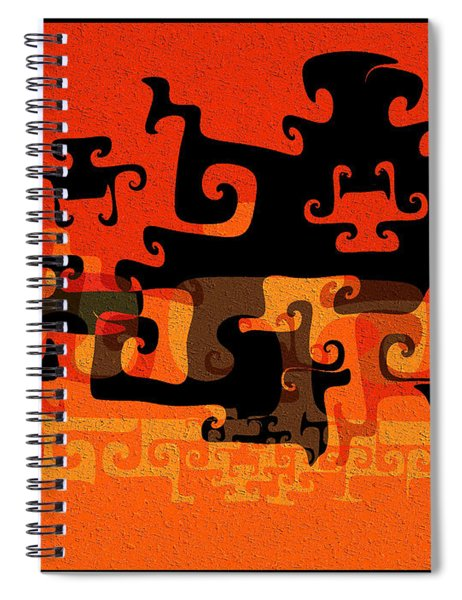 Gnarly Silhouette Parade Spiral Notebook