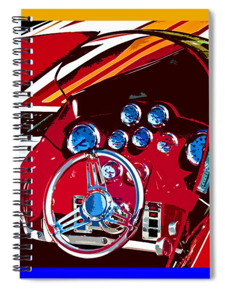 Go Fast Boat Spiral Notebook