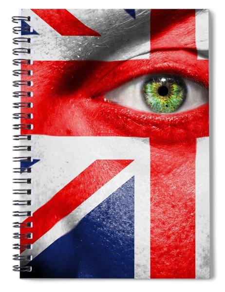 Go United Kingdom Spiral Notebook