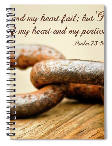 God Is My Strength Spiral Notebook